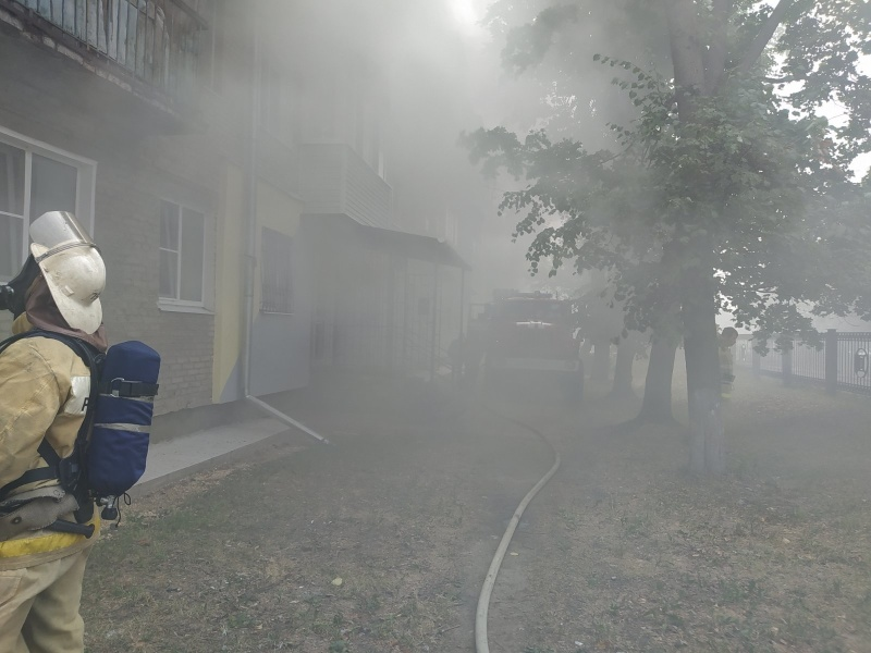 На пожаре в Муроме спасли двоих человек