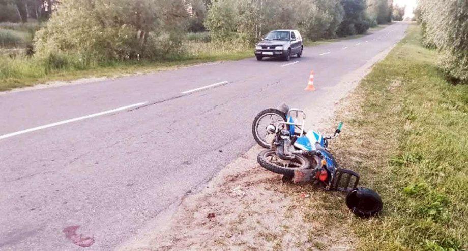 В аварии во Владимирской области пострадали две девочки, ехавшие на мопеде