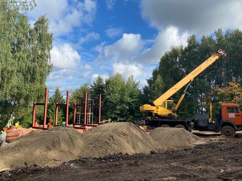 Реновация Фатьяновского парка в Вязниках продолжается