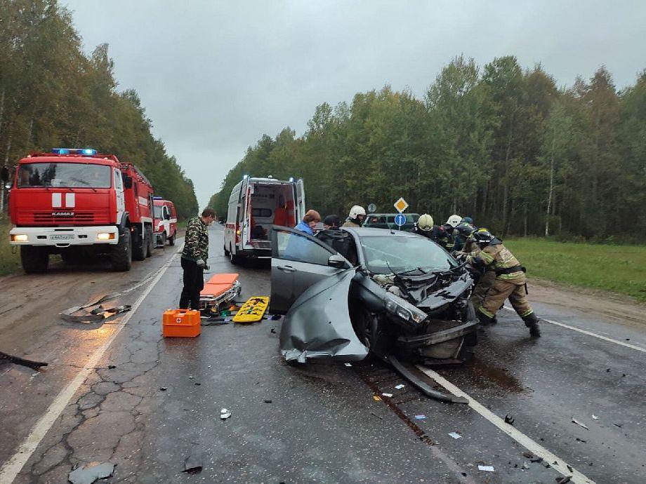 Во Владимирской области на трассе в лобовом столкновении пострадали два человека